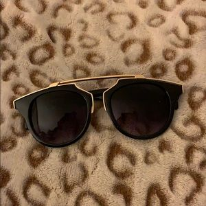 Black and gold almost new sunglasses!